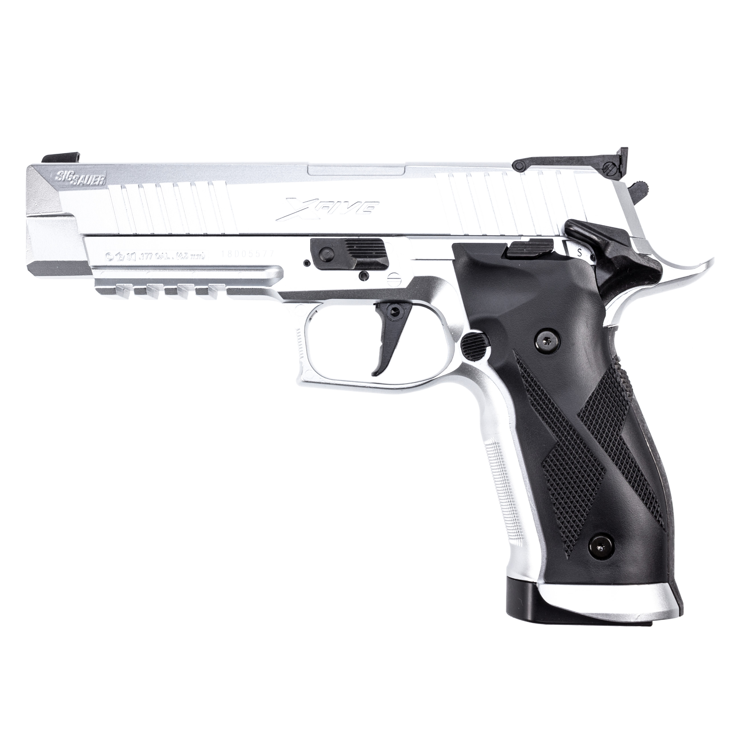 Sig Sauer X-Five CO2-Pistole mit BlowBack 4,5mm - stainless