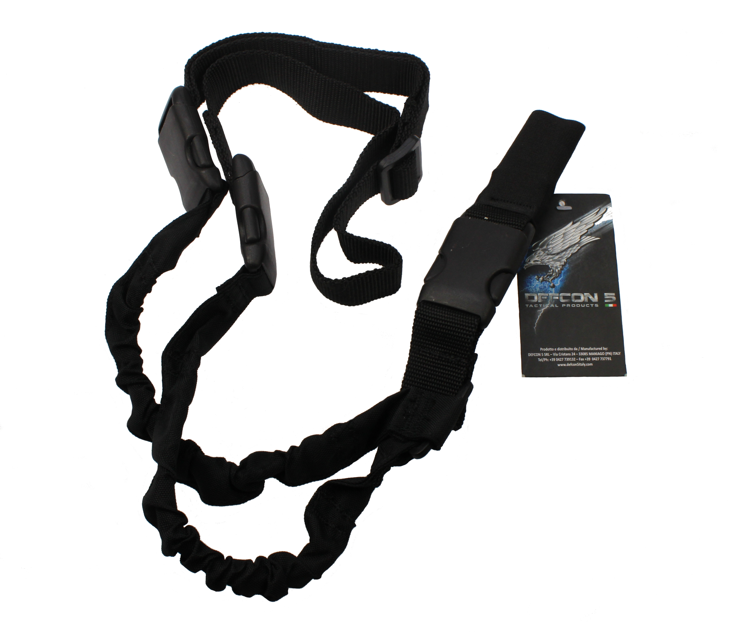 Gewehrriemen 1-Punkt Tactical Assault Sling 3 Buckets Black