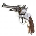 Gletcher Nagant NGT Silver CO2-Revolver in silber Kal. 4,5mm BBs